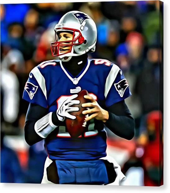 Patriots Canvas Print - Tom Brady by Florian Rodarte
