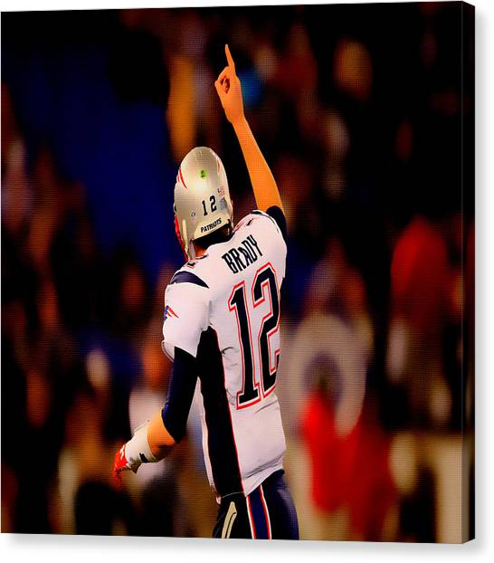 John Elway Canvas Print - Tom Brady Number 1 by Brian Reaves