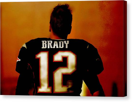 Joe Montana Canvas Print - Tom Brady Off Into The Sunset by Brian Reaves