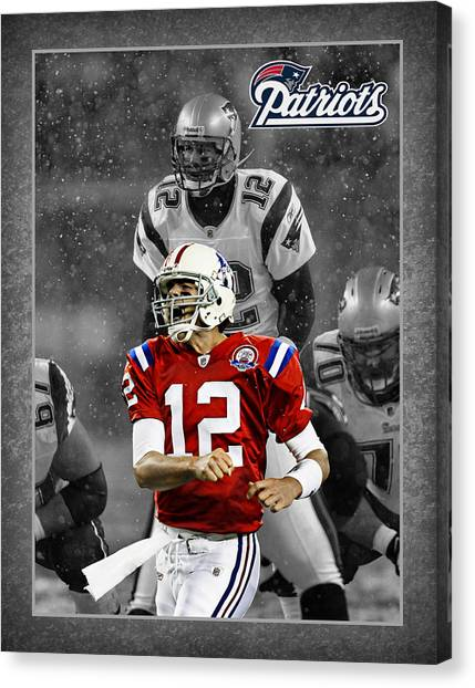 Goal Canvas Print - Tom Brady Patriots by Joe Hamilton