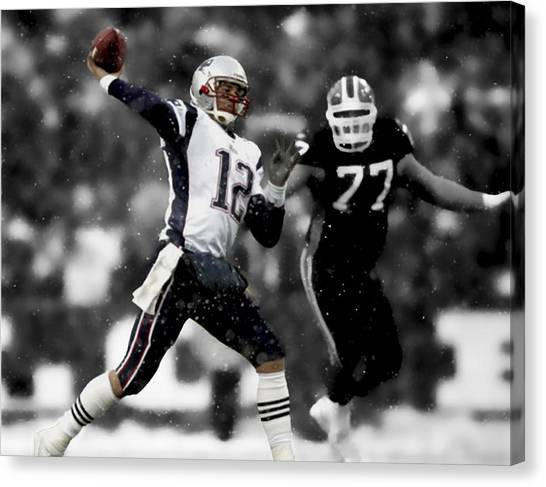 John Elway Canvas Print - Tom Brady Smooth Execution by Brian Reaves