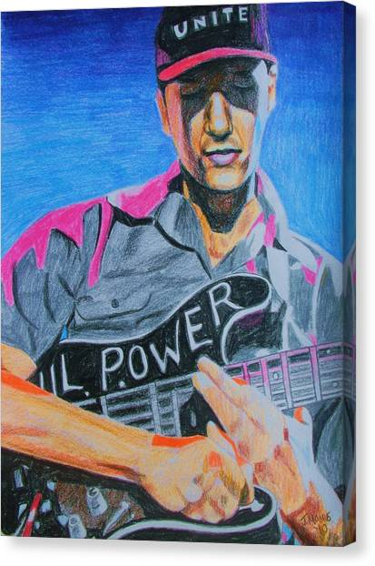Tom Morello Canvas Print by Jeremy Moore
