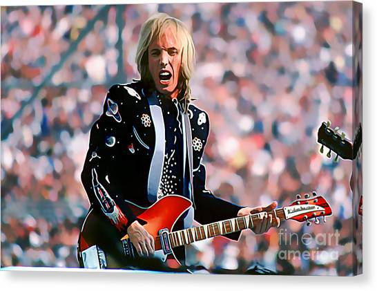 Tom Petty At Live Aid In Philadelphia Canvas Print