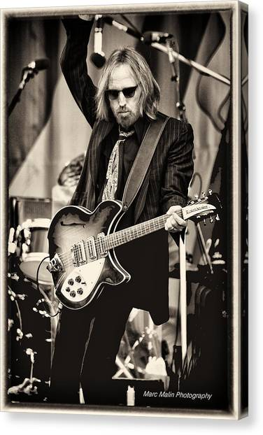 Rock And Roll Canvas Print - Tom Petty by Marc Malin