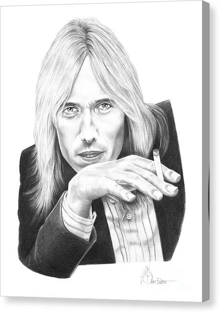 Tom Petty Canvas Print - Tom Petty by Murphy Elliott