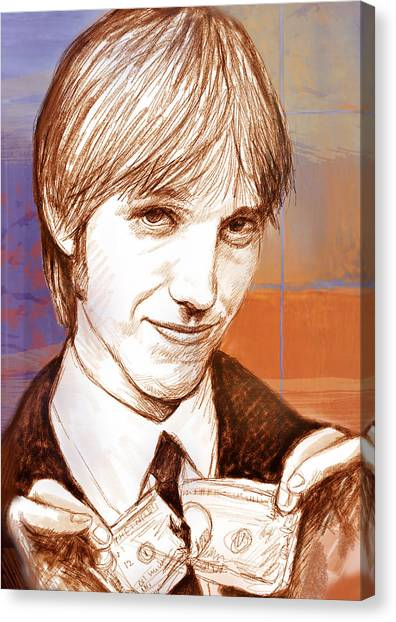 Tom Petty Canvas Print - Tom Petty - Stylised Drawing Art Poster by Kim Wang