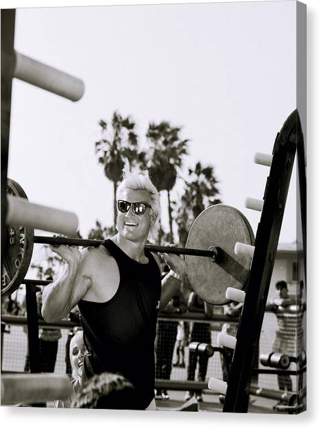 Tom Platz In Los Angeles Canvas Print