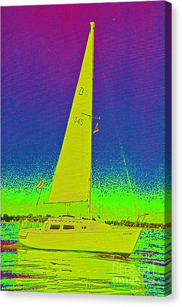 Tom Ray's Sailboat Canvas Print