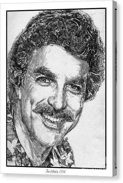 Tom Selleck In 1984 Canvas Print