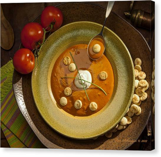 Tomato Bisque Soup Canvas Print by Ron Schwager