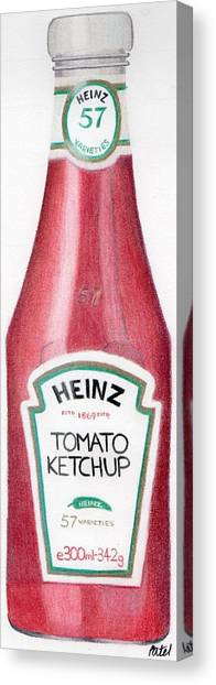 Tomato Ketchup Canvas Print by Bav Patel