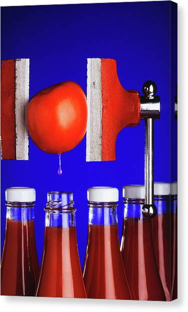 Ketchup Canvas Print - Tomato Ketchup by Scott Bauer/us Department Of Agriculture/science Photo Library