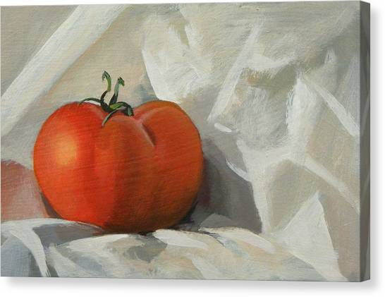 Tomato Canvas Print by Peter Orrock