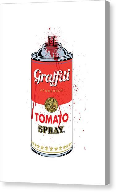 Tomato Spray Can Canvas Print