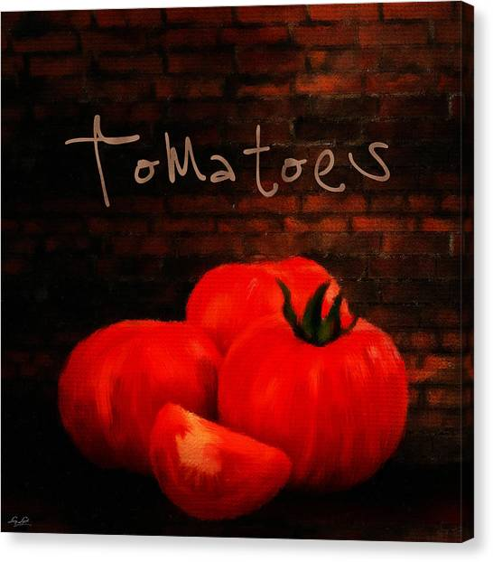 Ingredient Canvas Print - Tomatoes II by Lourry Legarde