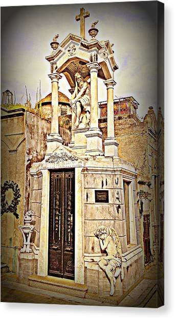 Tomb In Recoleta Cemetary Buenos Aries Canvas Print