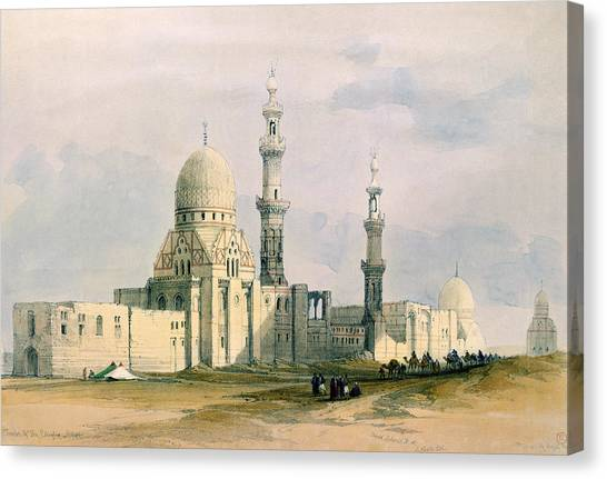 City Of The Dead Canvas Print - Tomb Of Sultan Qansuh Abu Sa`id, 1499 by David Roberts