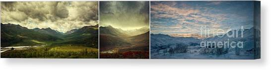 Mountainscape Canvas Print - Tombstone Range Seasons by Priska Wettstein
