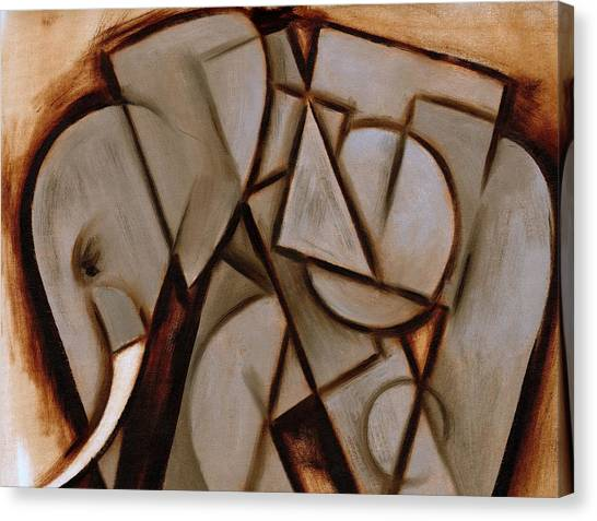 Tommervik Abstract Cubism Elephant Art Print Canvas Print