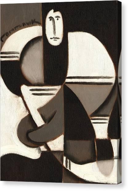 Tommervik Abstract Cubism Hockey Player Art Print Canvas Print