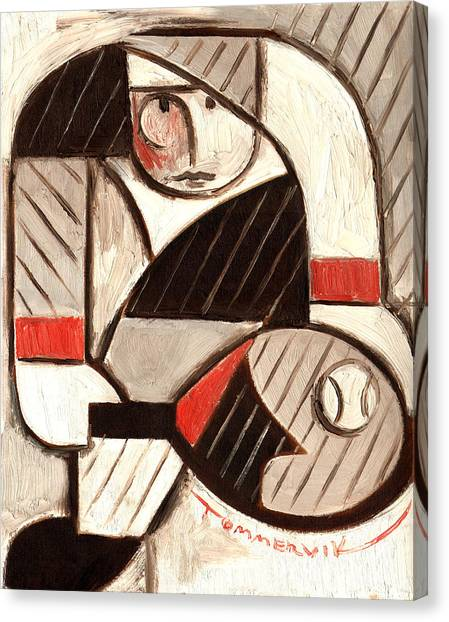 Tommervik Abstract Tennis Art Player Canvas Print