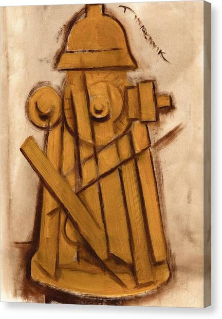 Abstract Fire Hydrant Art Print Canvas Print