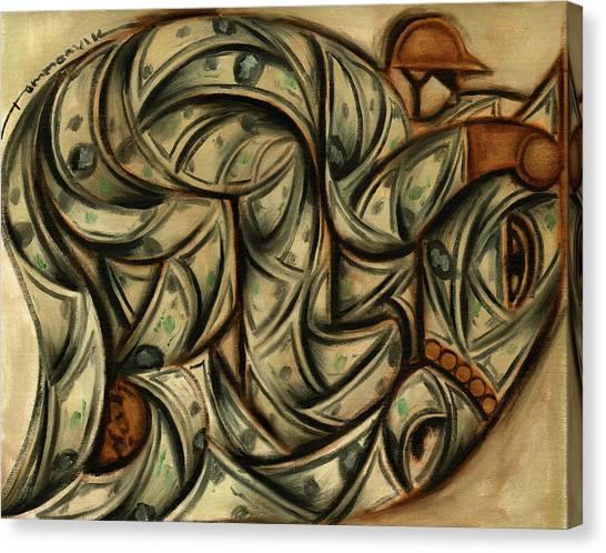 Tommervik Horse Racing Betting Art Print Canvas Print by Tommervik