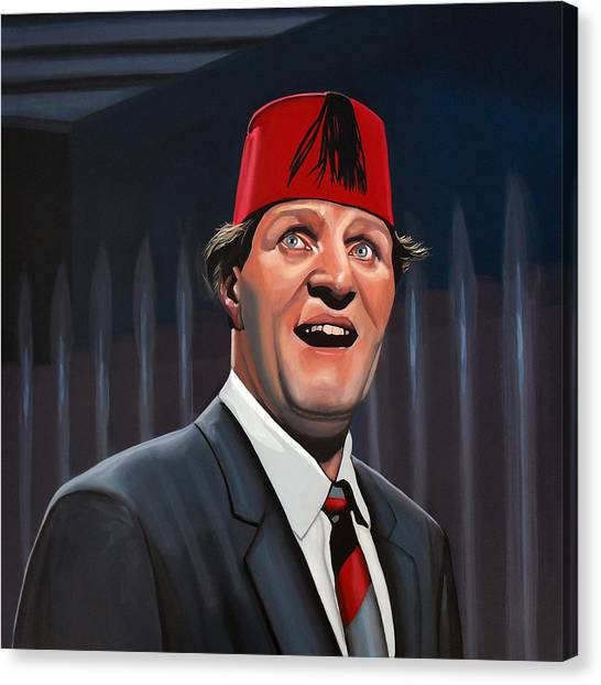 Circle Canvas Print - Tommy Cooper by Paul Meijering