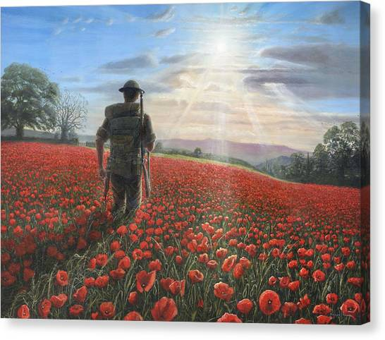 Ww1 Canvas Print - Tommy by Richard Harpum