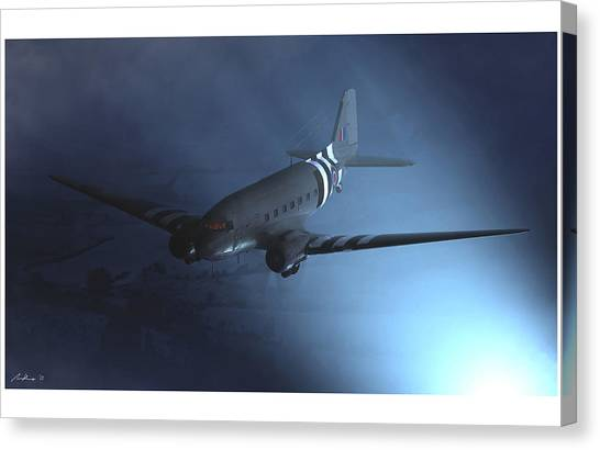Paratroopers Canvas Print - Tonga by Hangar B Productions