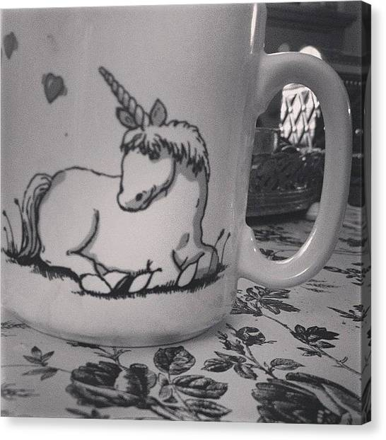 Unicorns Canvas Print - Tonight's Chai Tea Is Brought To You by Stephanie Johnson