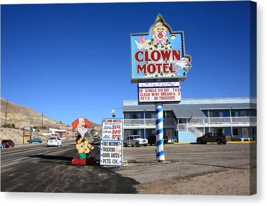 Tonopah Nevada - Clown Motel Canvas Print