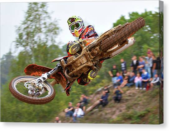 Motocross Canvas Print - Tony Cairoli Whip Look - Maggiora Mx Opening by Stefano Minella