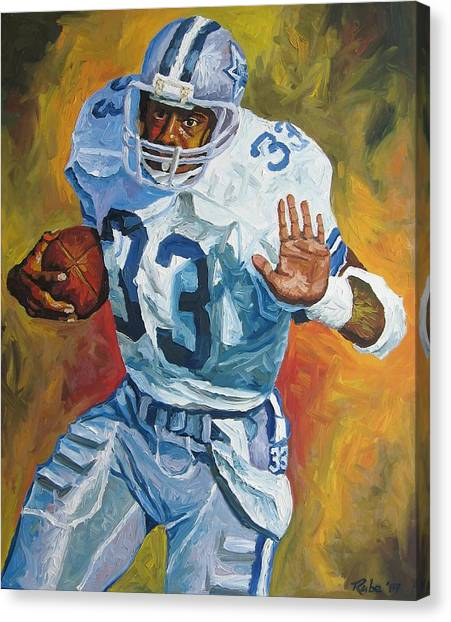 Dallas Cowboys Canvas Print - Tony Dorsett - Dallas Cowboys  by Mike Rabe