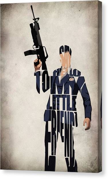 Scarface Canvas Print - Tony Montana - Al Pacino by Inspirowl Design