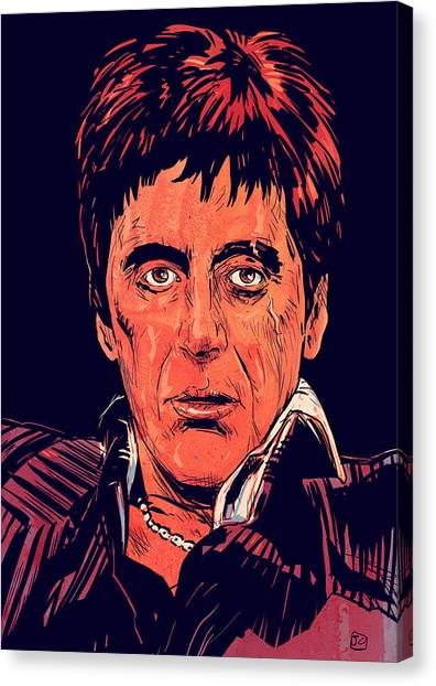 Scarface Canvas Print - Tony Montana by Giuseppe Cristiano