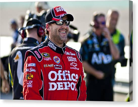 Tony Stewart Canvas Print - Tony Smiles by Kevin Cable