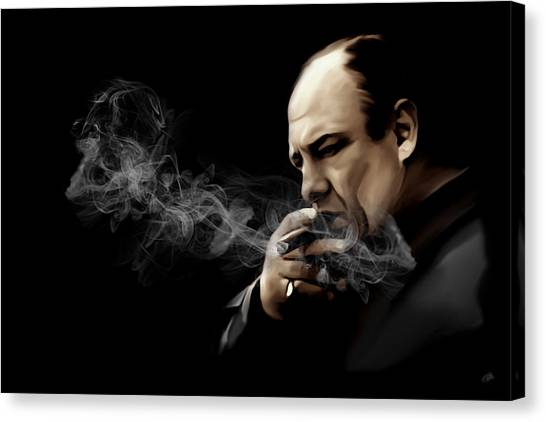 Jerseys Canvas Print - Tony Soprano by Laurence Adamson