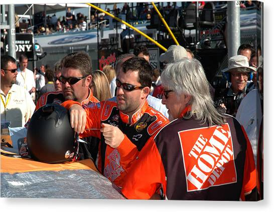 Tony Stewart Canvas Print - Tony Stewart 20 by Kevin Cable