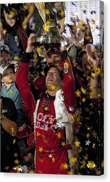 Tony Stewart Canvas Print - Tony Stewart Champion by Kevin Cable