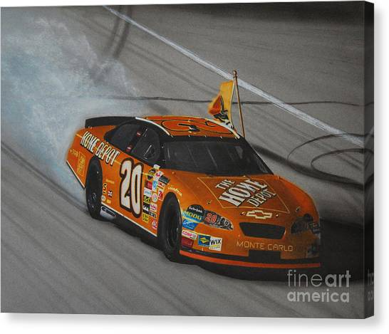 Tony Stewart Canvas Print - Tony Stewart Championship Win by Paul Kuras