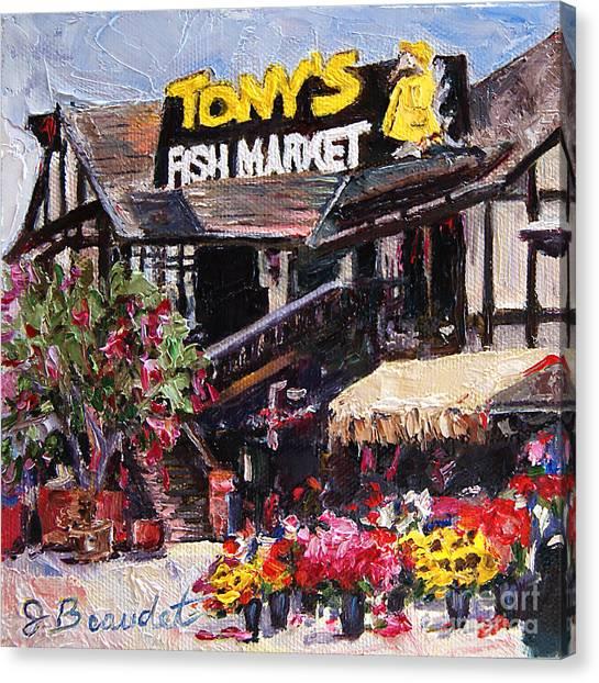 Tony's On The Redondo Pier Canvas Print