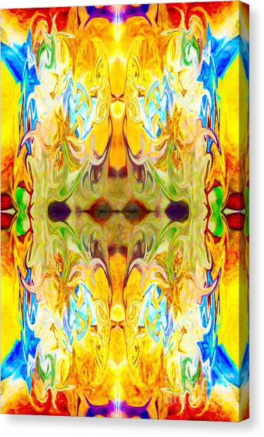 Canvas Print featuring the digital art Tony's Tower Abstract Pattern Artwork By Tony Witkowski by Omaste Witkowski