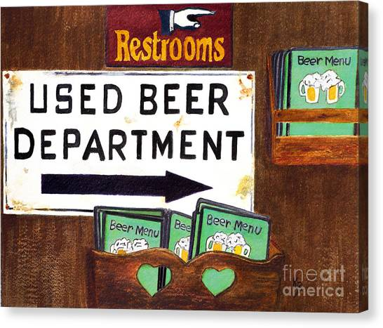 Canvas Print featuring the painting Too Many Suds by Karen Fleschler