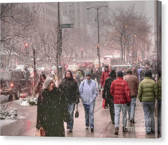 Too Soon The Snow Canvas Print by David Bearden