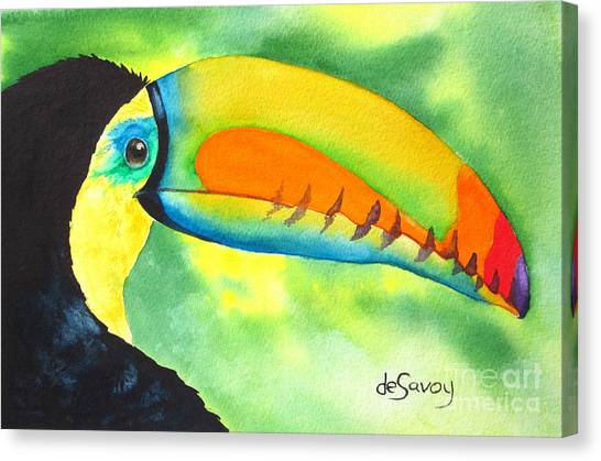 Canvas Print featuring the painting Tookey  by Diane DeSavoy
