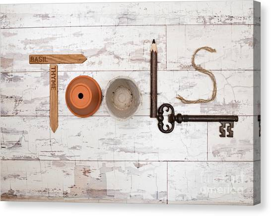 Rustic Canvas Print - Tools by Amanda Elwell