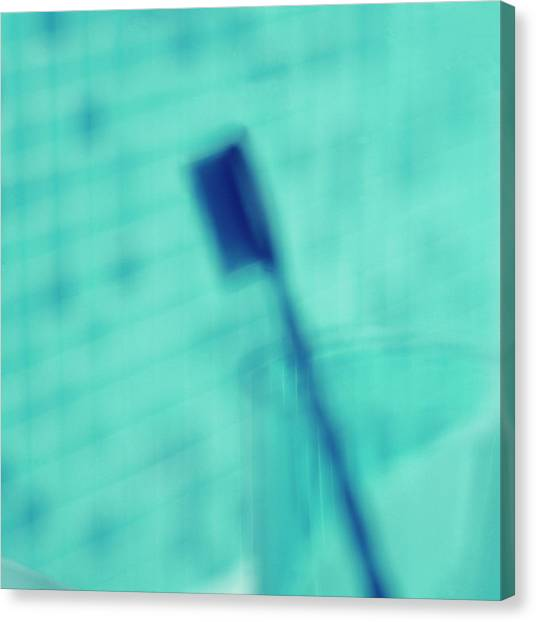 Toothbrush Canvas Print - Toothbrush by Sue Prideaux/science Photo Library
