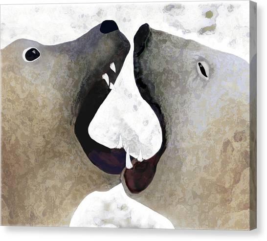Toothy Bears Canvas Print