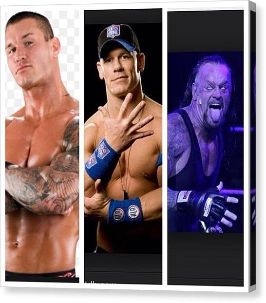 Wwe Canvas Print - Top 3 Fav #wwe Superstars. Can Not Wait by Smellslikeairwick Tirrell